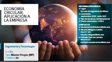 Máster en Economía Circular: aplicación a la empresa de la UPV/EHU